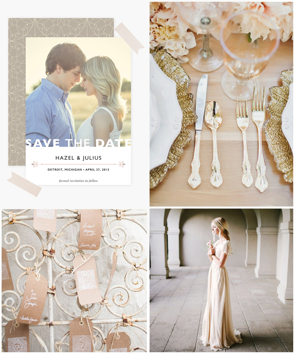 Modern Fairytale Save the Date  •  Place Setting  •  Tags  •  Bride