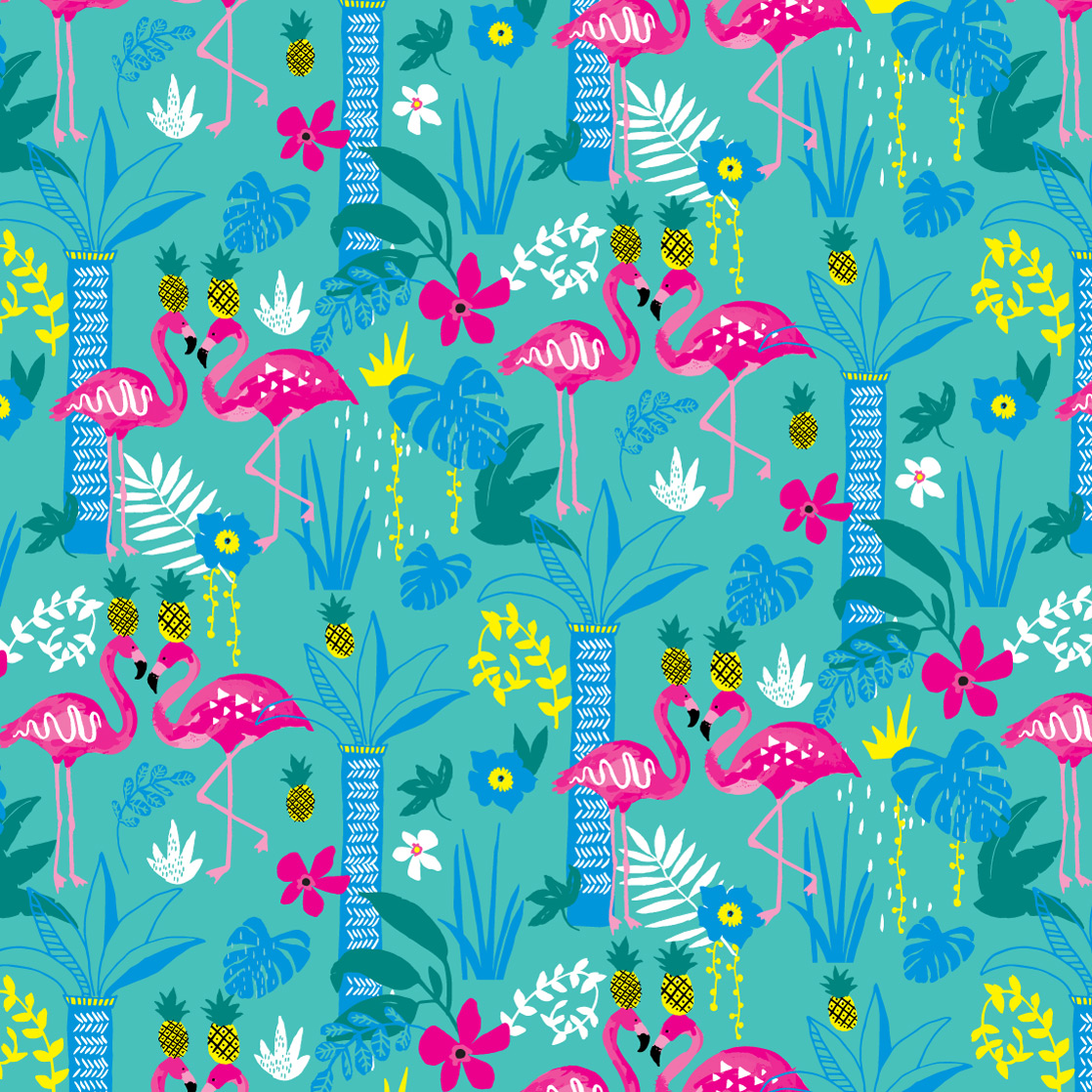 Flock of Pink - Pattern TWO-0002a