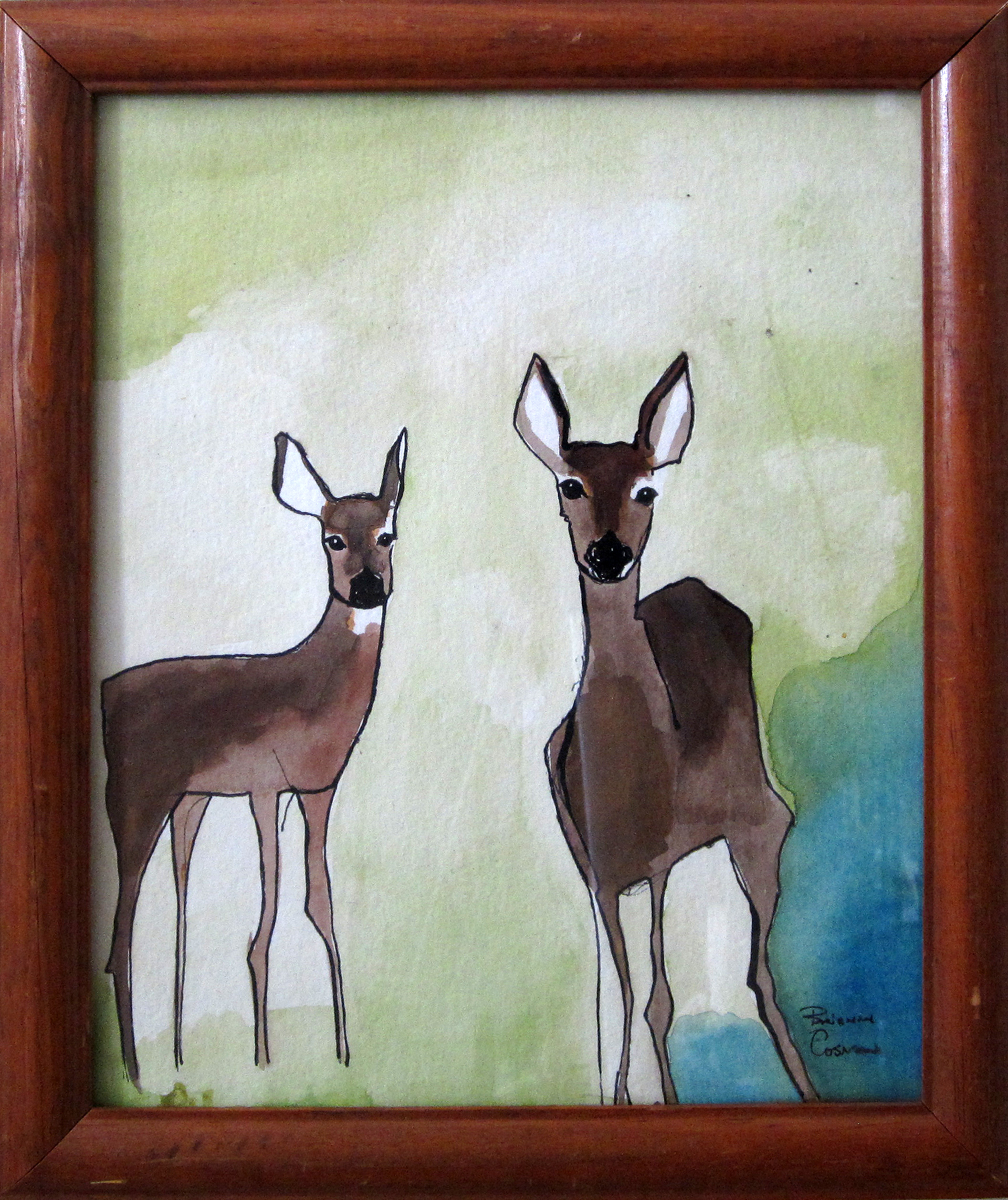 25: Deer on my Lawn -Sold