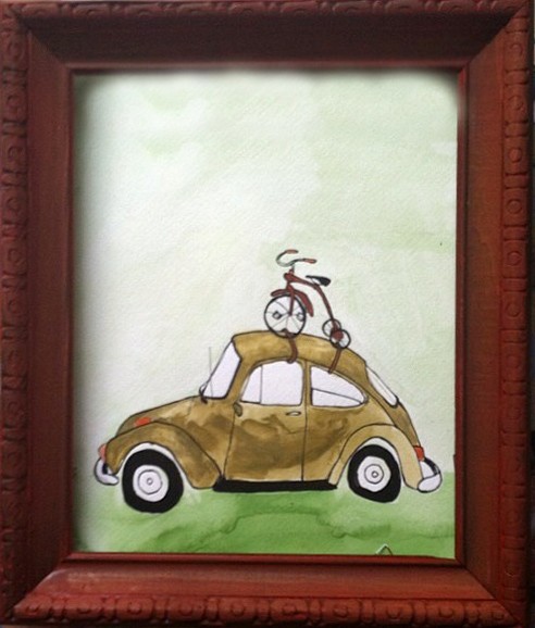 26: Bike on a Car - Sold