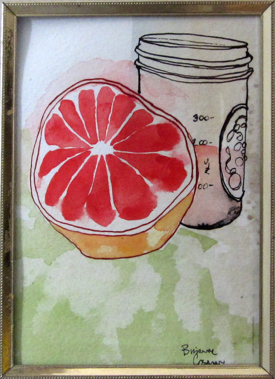 36: Fresh Grapefruit Juice 5 x 7""