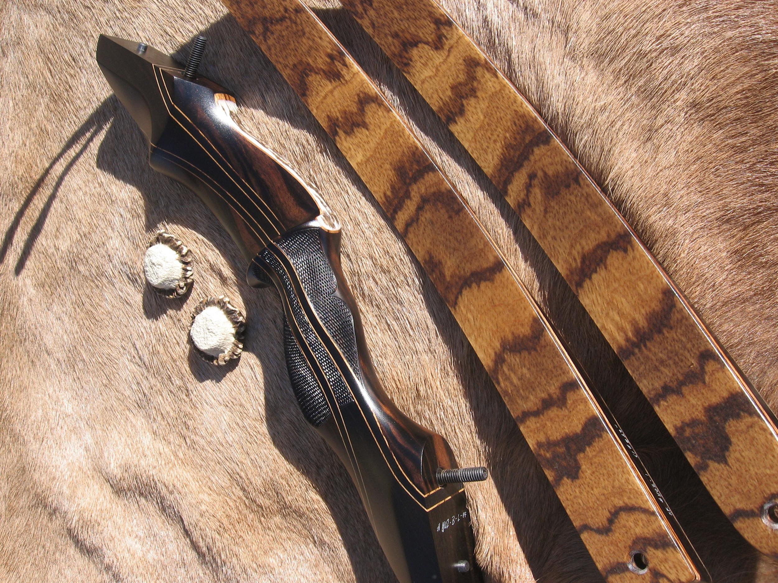 Macassar Ebony Riser- Zebrawood Limbs