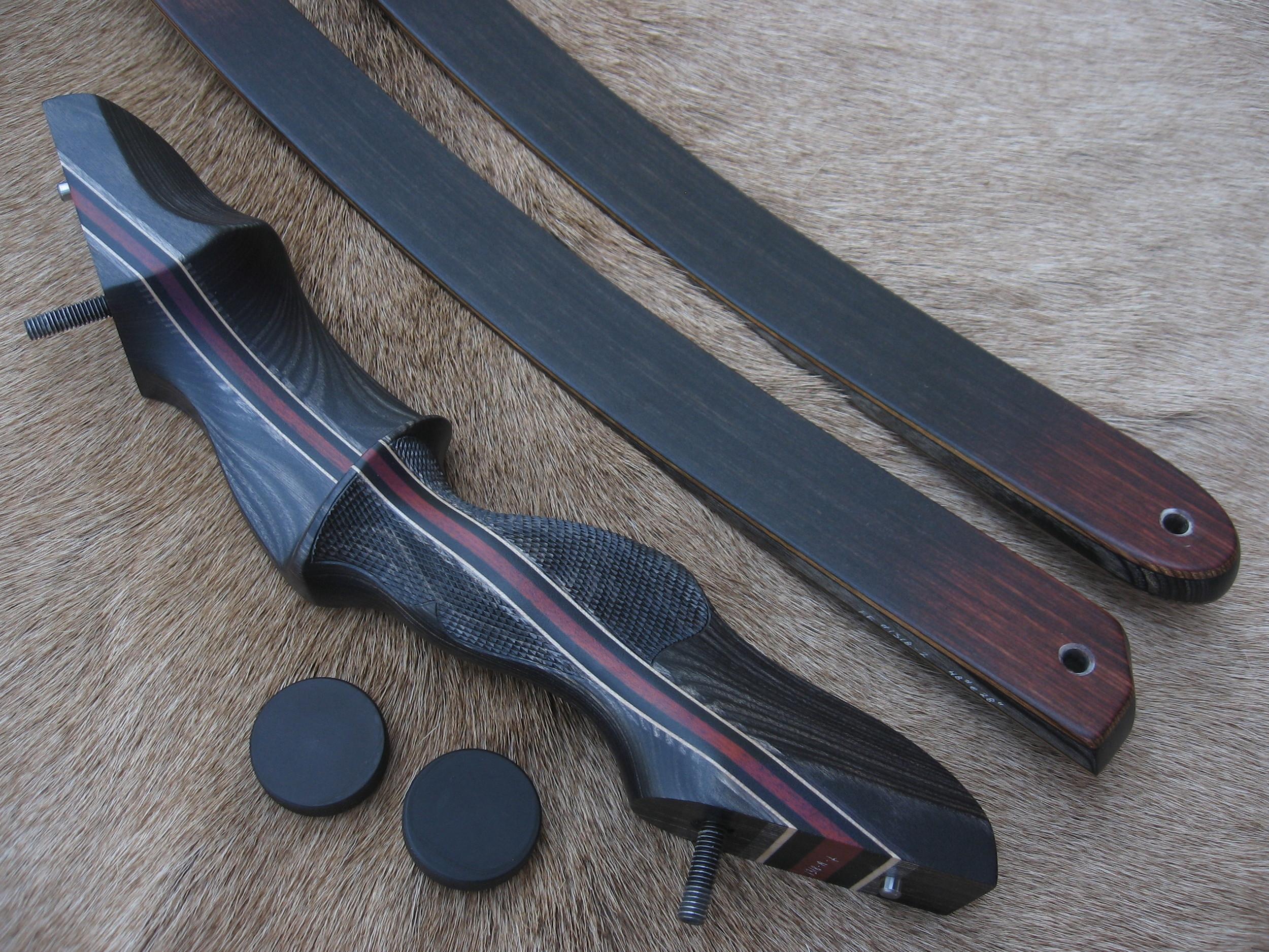 Charcoal Dym Riser- Standard grey Actionwood Limbs