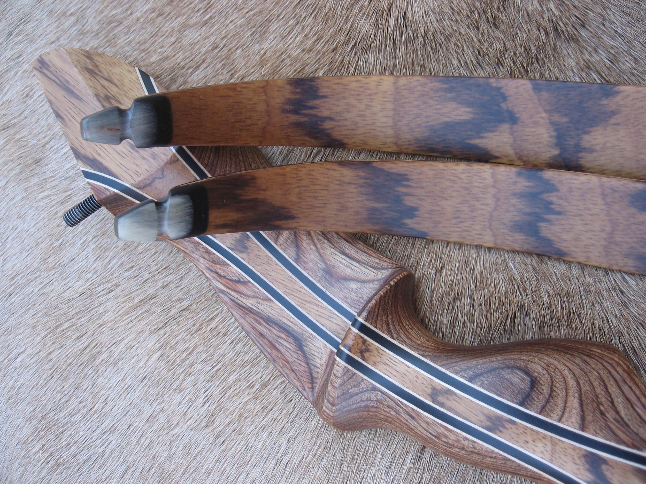 Walnut Dym Riser w/ Zebrawood Flare- Zebrawood Limbs
