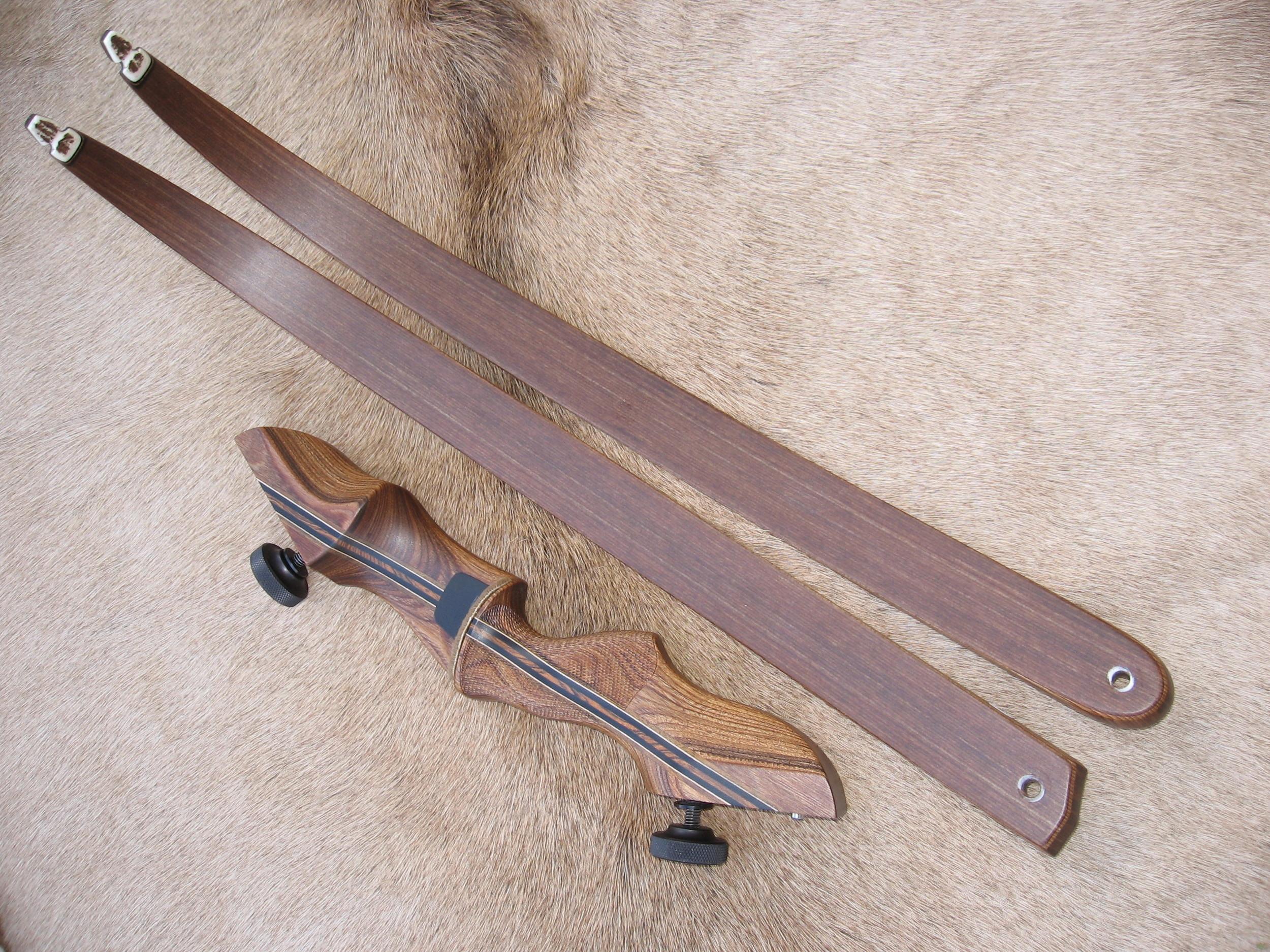 Walnut Dym Riser- Standard brown actionwood limbs