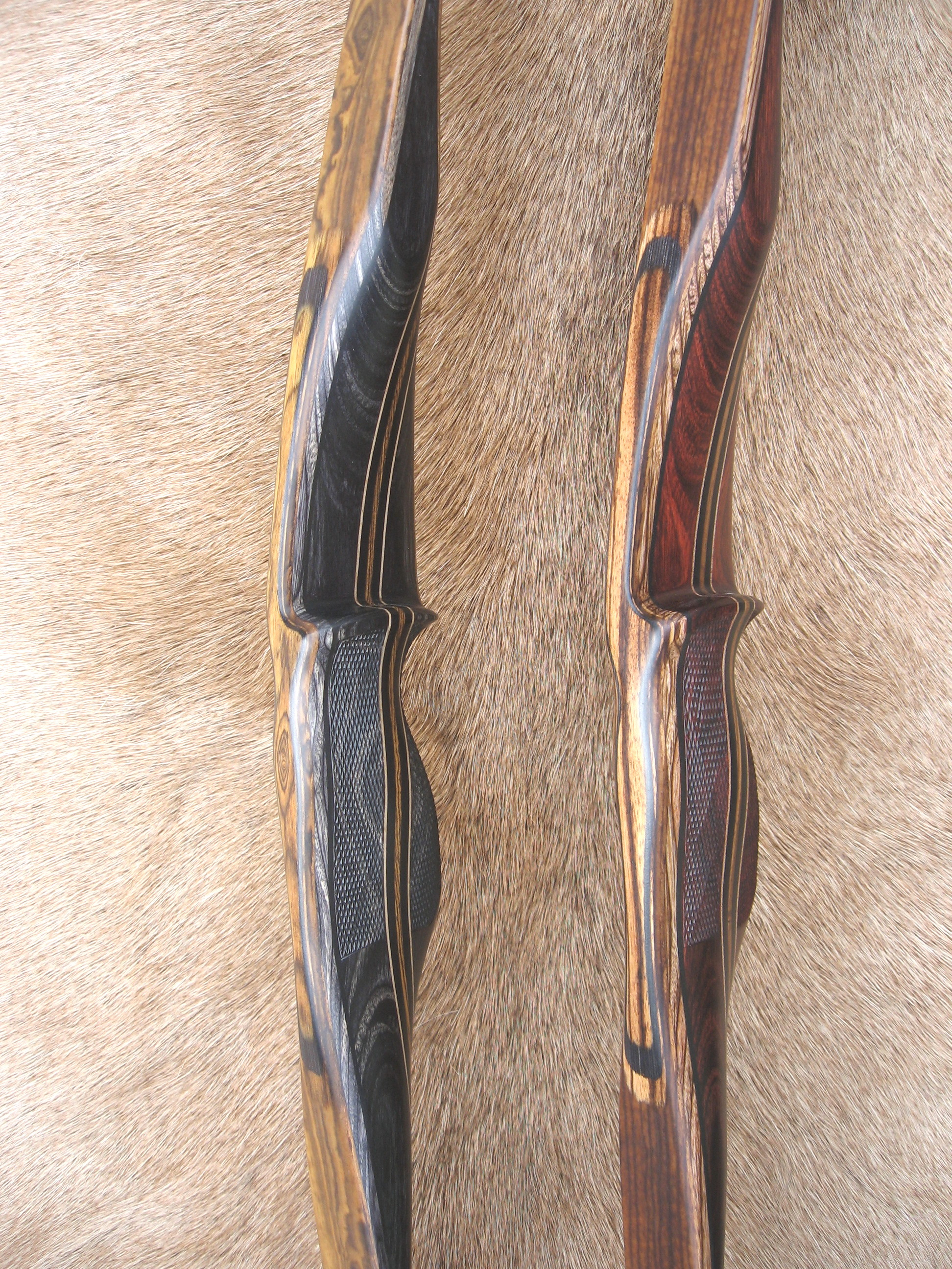 Charcoal Dym Riser- left  Rosewood Dym Riser- right