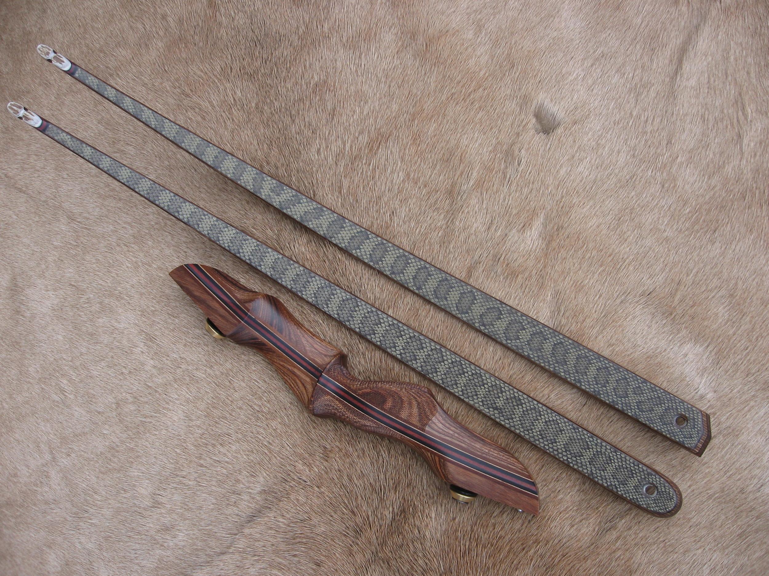 Walnut Dym Riser- Montana Prairie Rattler Limbs