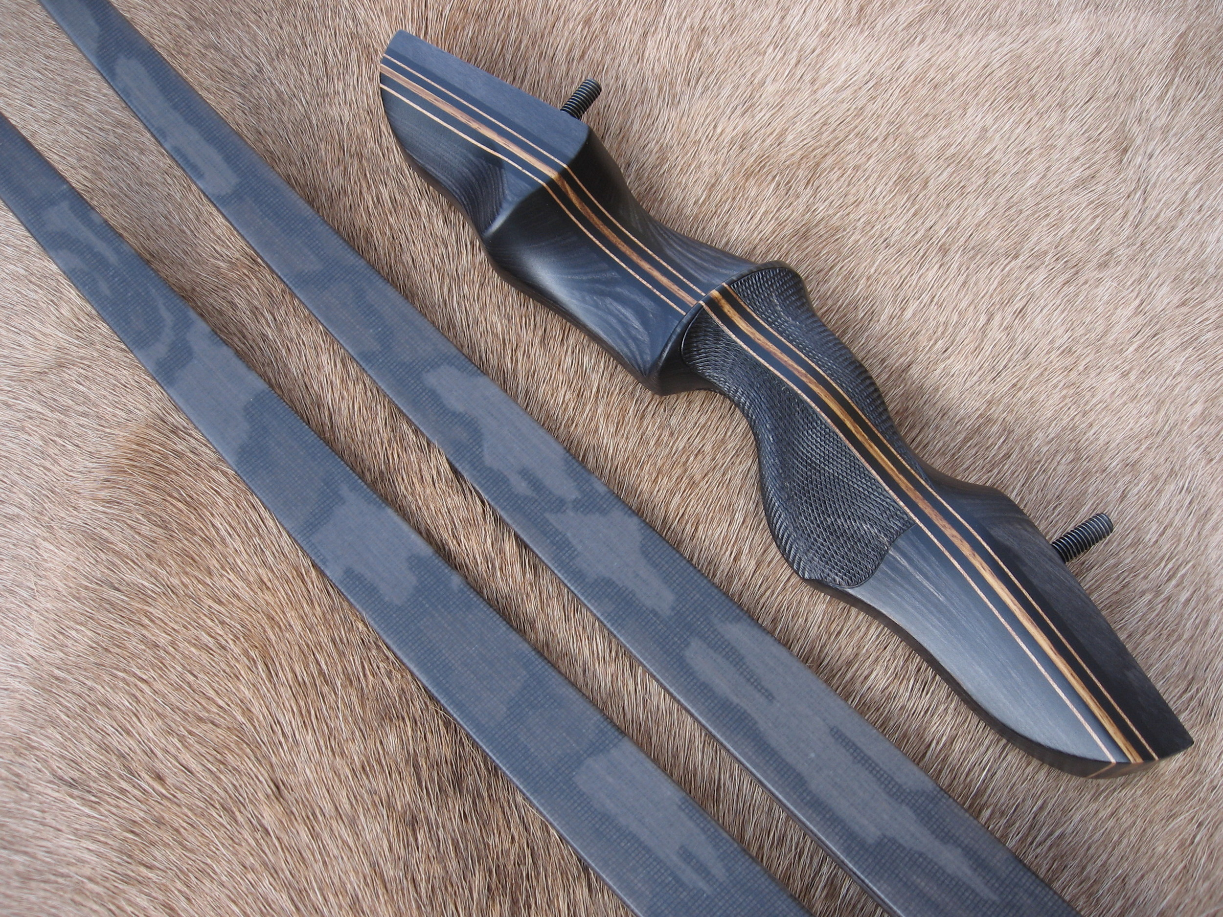 Charcoal Dym Riser- Treebark Camo Limbs ( supplies limited)