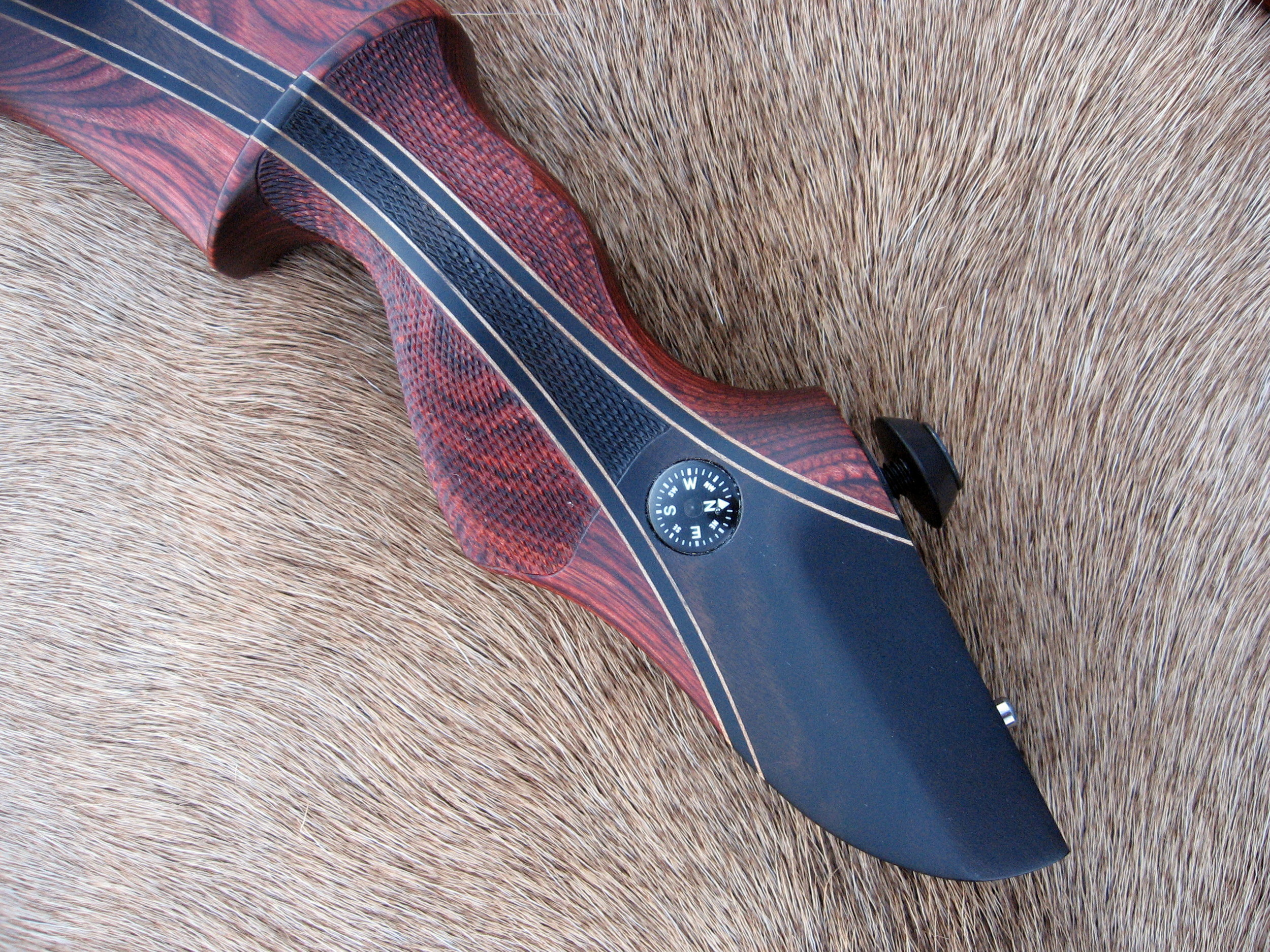 Rosewood Dym Riser w/ Macassar Ebony Flare- Compass Inlay (compass provided by customer)
