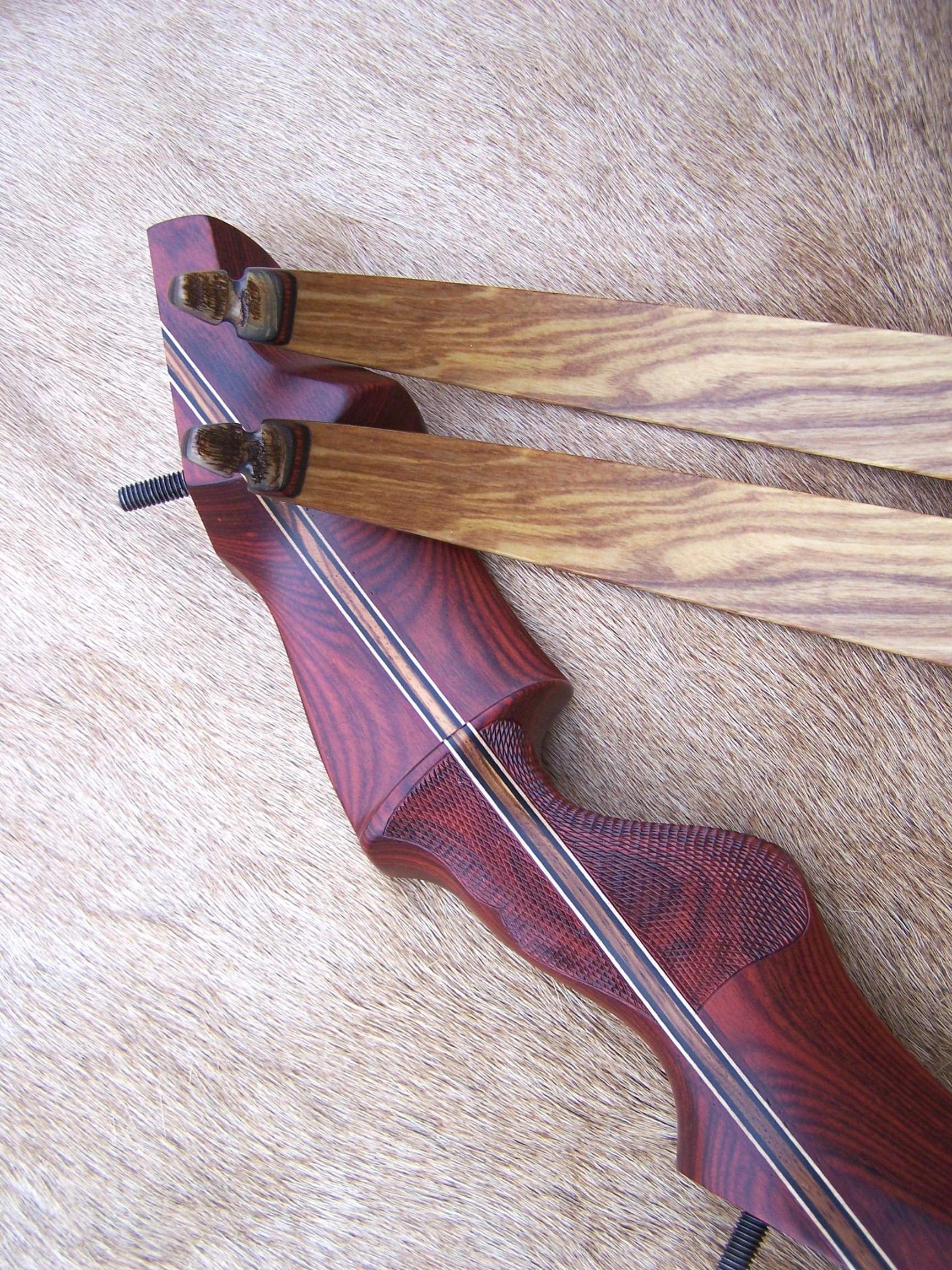 Rosewood Dym Riser- Ash Limbs w/ rough Sheep Horn tips