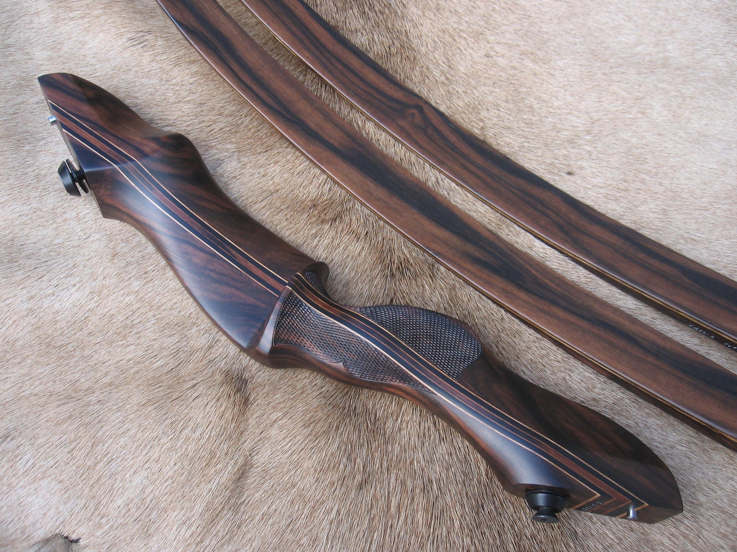 Macassar Ebony Riser- Macassar Ebony Limbs