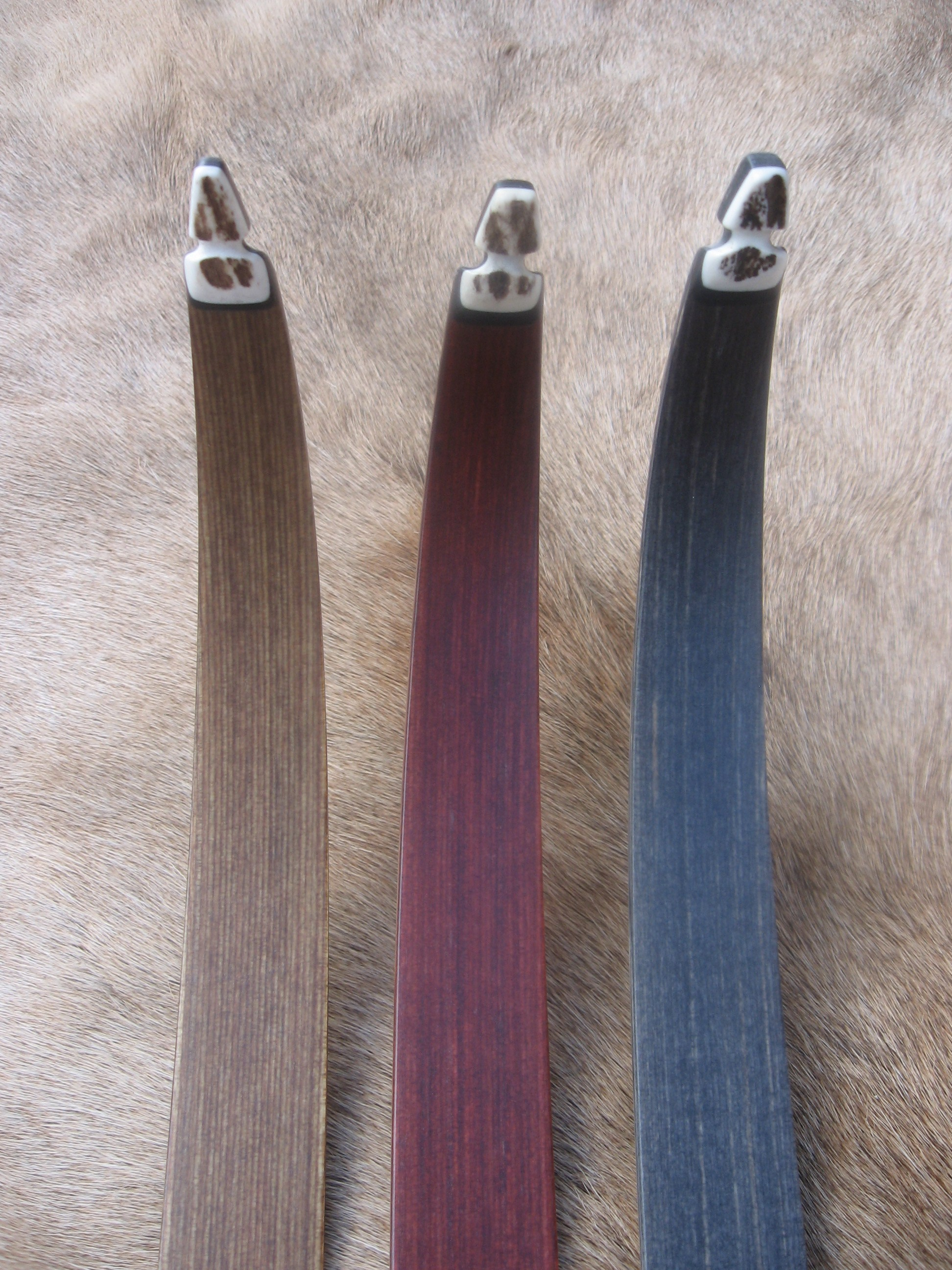 Standard Actionwood Limbs  (walnut, rosewod and charcoal)