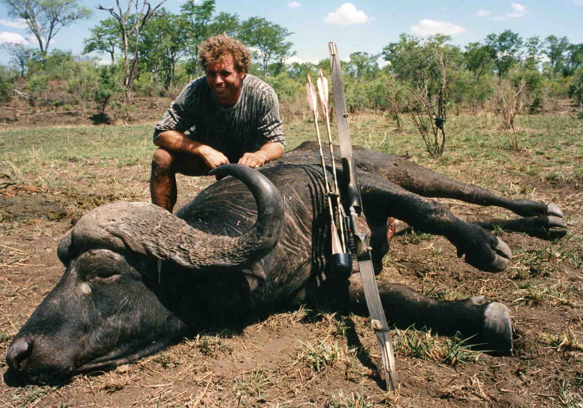 Paul Schafer with Cape Buffalo