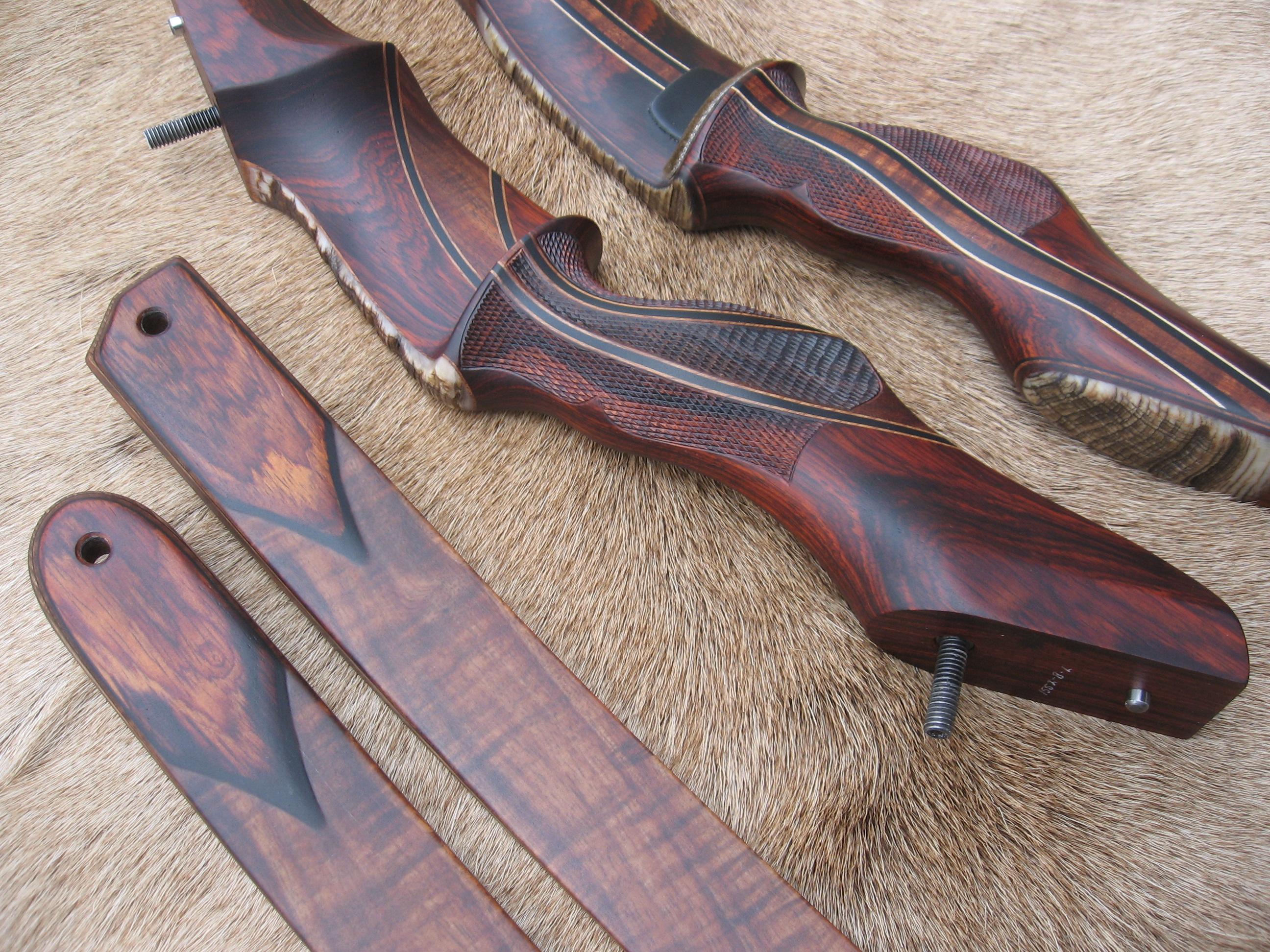 """Chevron"" Shape- Cocobolo wood"