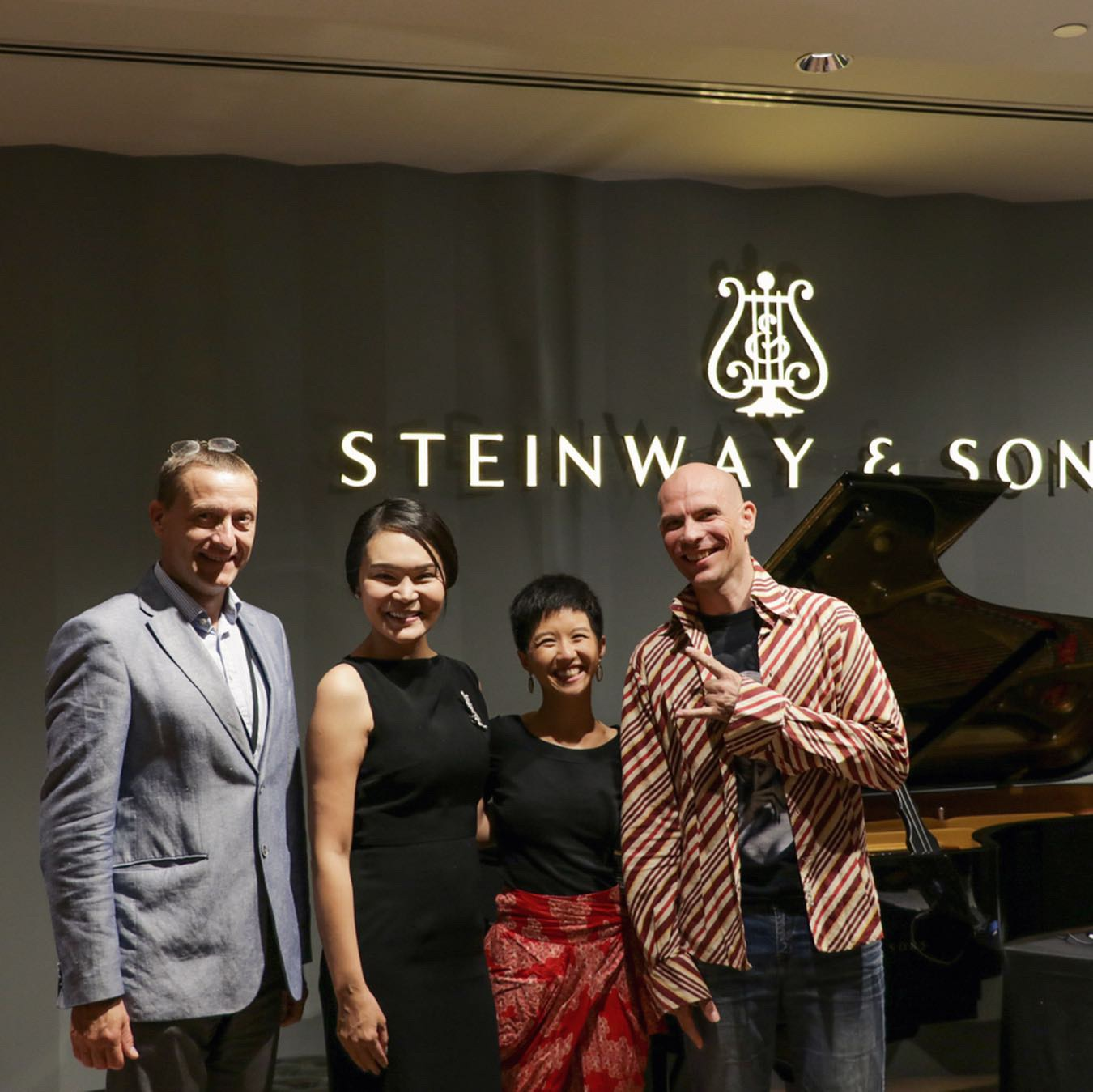 Felix and I with Alexander Melchers & Celine Goh of Steinway Gallery Singapore