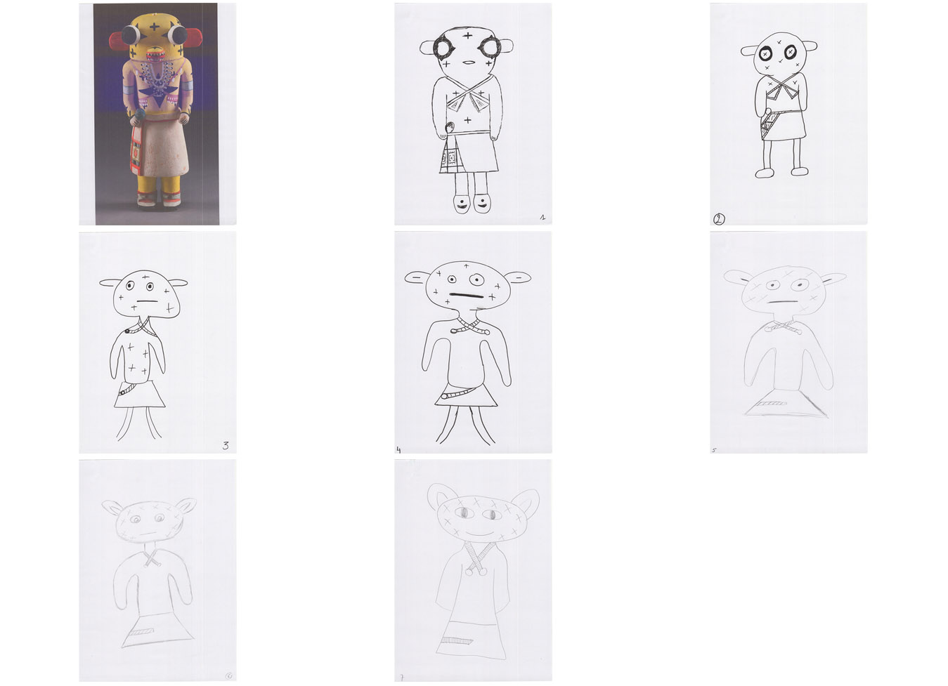 Series after an image of a Hopi Kachina figure