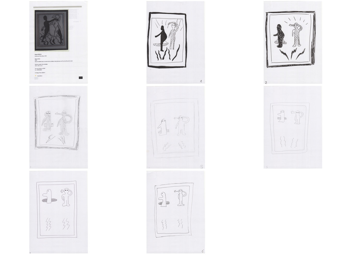 Series from Henk Visch - Sans Titre, 1984