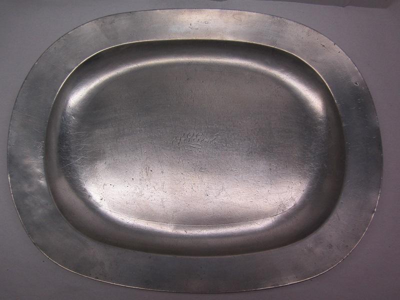 "impressive 20 1/4"" oblong 19th c platter  item #br-637"