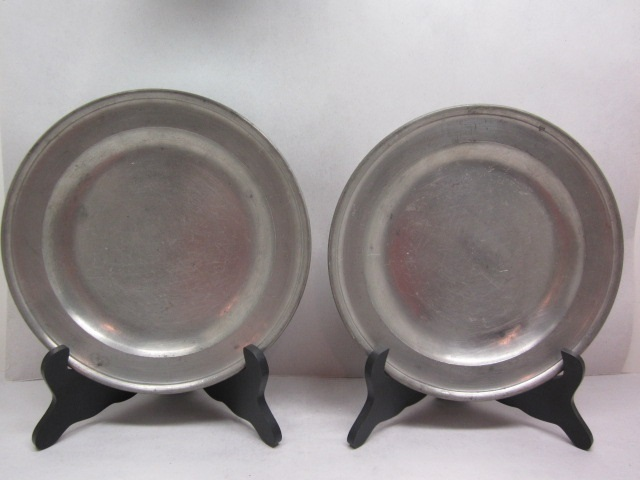 """two 9 3/8"""" townsend export plates  item #4-692"""