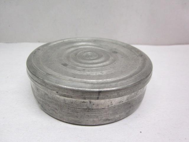 "3 1/2"" lidded box/ canister  item #4-698"