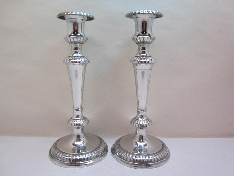 #2 meriden britannia co candleholders  item #2-514