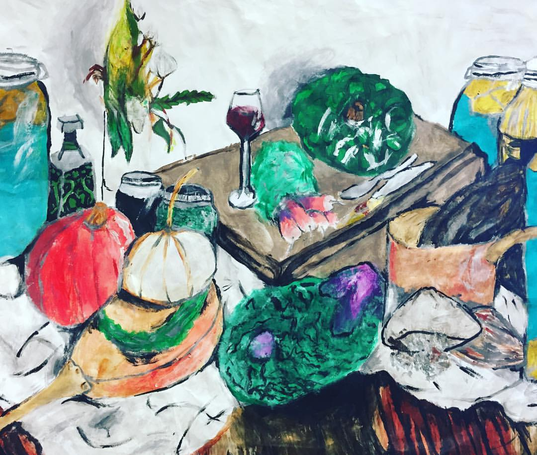 2017 winner of the Fresh Artists 'Palates To Palettes' program.