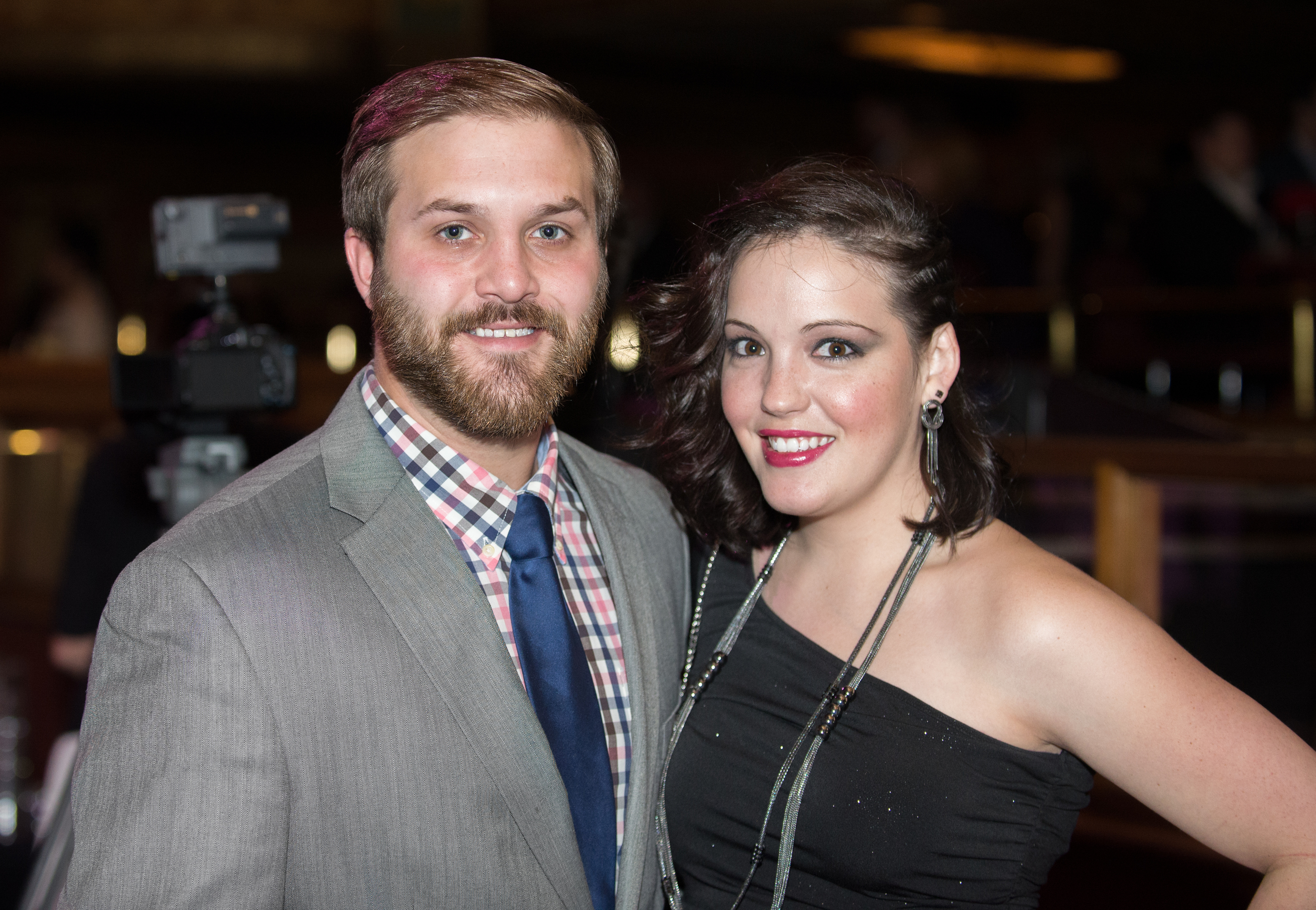 Robert Hall and fiance Rebecca at the Hour Detroit Best Dressed Celebration