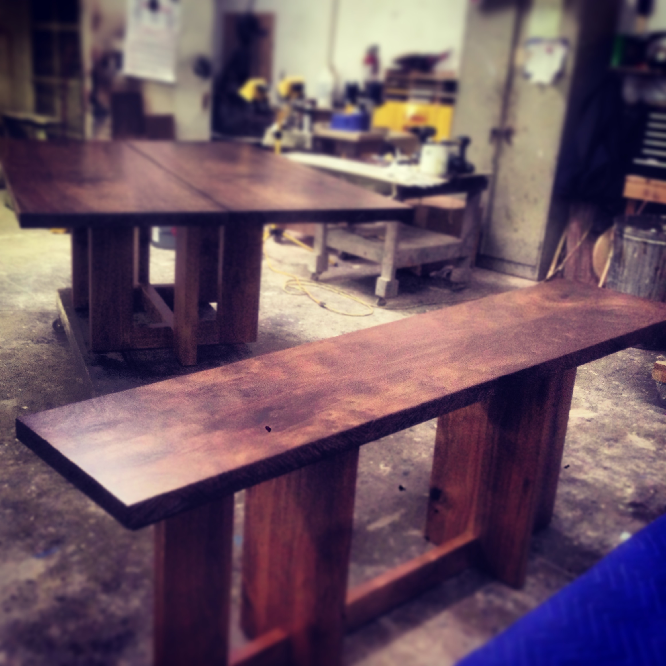solid claro top dining table