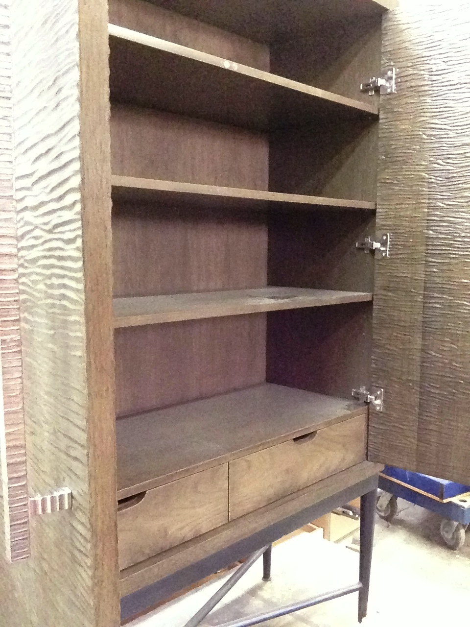 in carving the texture we increased the surface area dramatically and exposed a good deal of end-grain