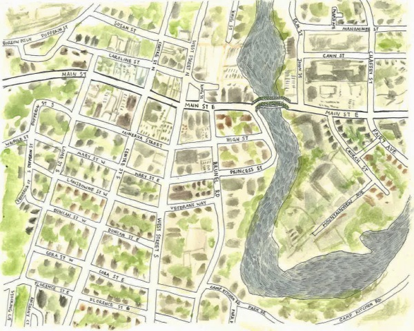Downtown Huntsville Map by Helah Cooper