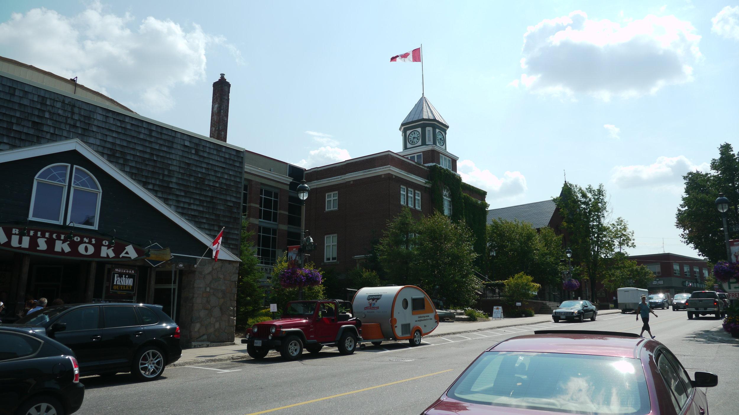TOAT Huntsville Ontario Storygathering Tour Street