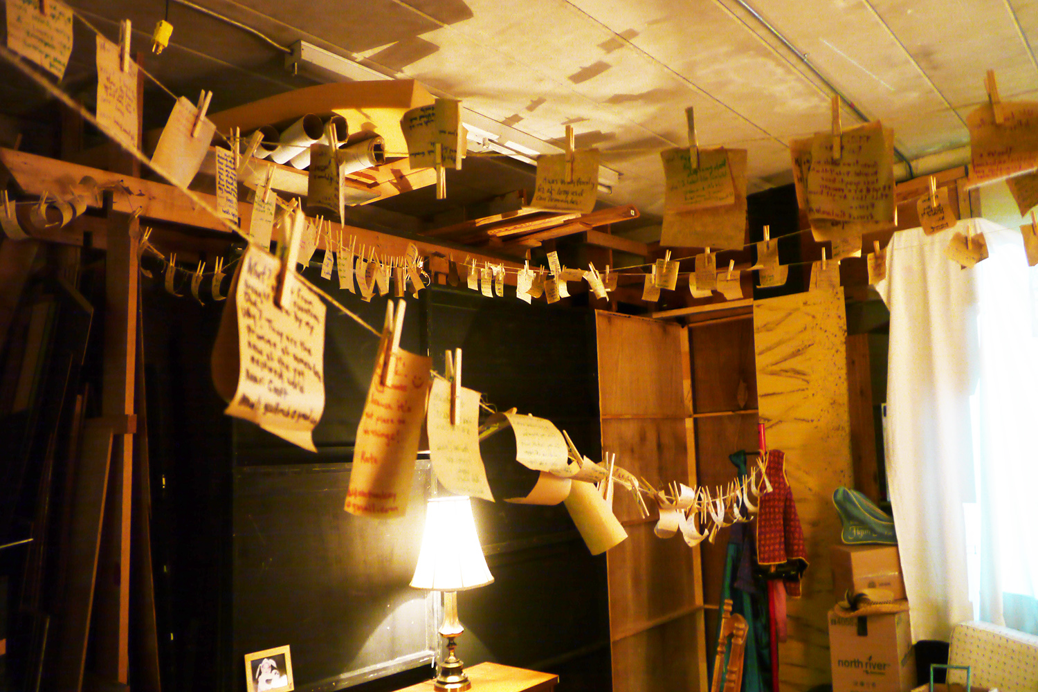 Storyage Notes Hanging in the Attic Space