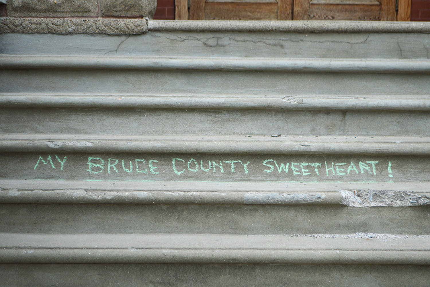 The Tale of a Town Kingston Ontario Words Written on Steps