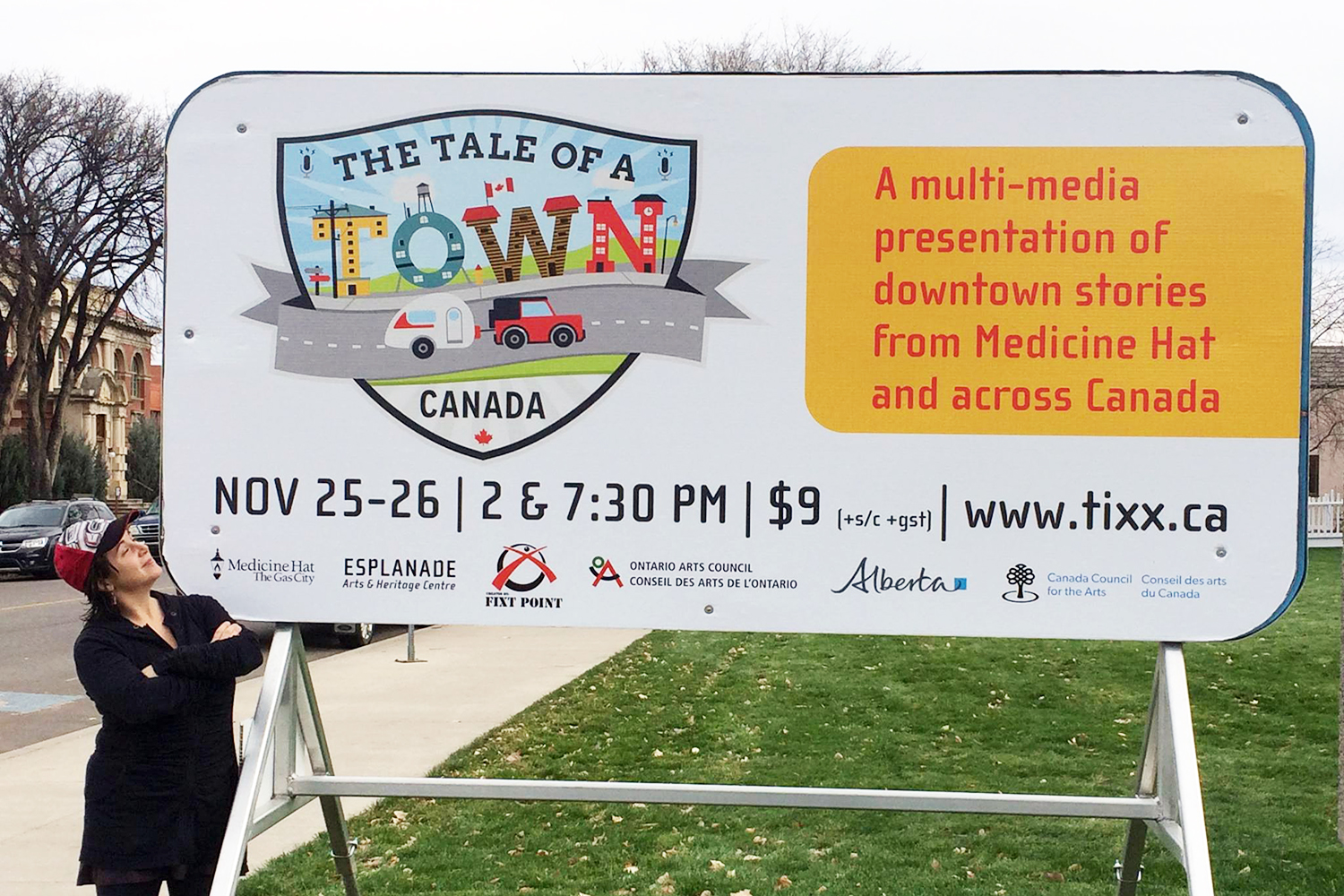 The Tale of a Town-Medicine-Hat, Alberta, Performance with Lisa Marie DiLiberto