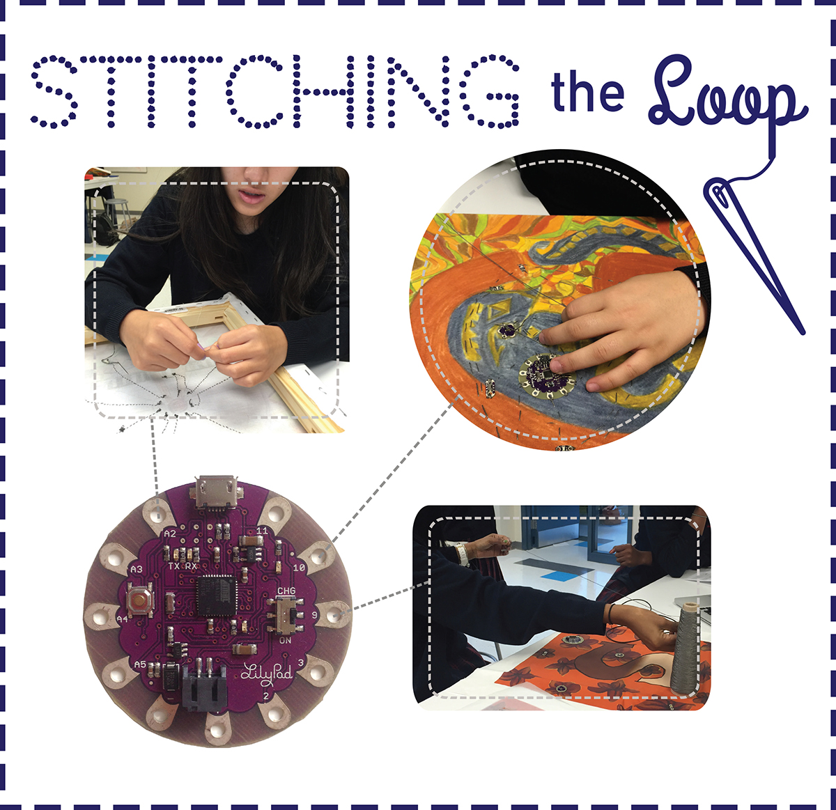 STITCHING THE LOOP  - The goal of Stitching the Loop is to broaden and deepen the computer science knowledgeable citizenry by attracting more girls and students from ethnically and economically underserved groups. We are developing and piloting a computer science curricular unit for high school students based on electronic textiles, which are fabric-based crafts made with conductive thread, microcontrollers, lights, sensors, and other electronic components. Because of their links to traditional crafts and fashion, electronic textiles have a broad appeal among young people. By leveraging the successful introductory Exploring Computer Science curriculum that is currently taught in high schools across the country, this project will reach thousands of underserved students.