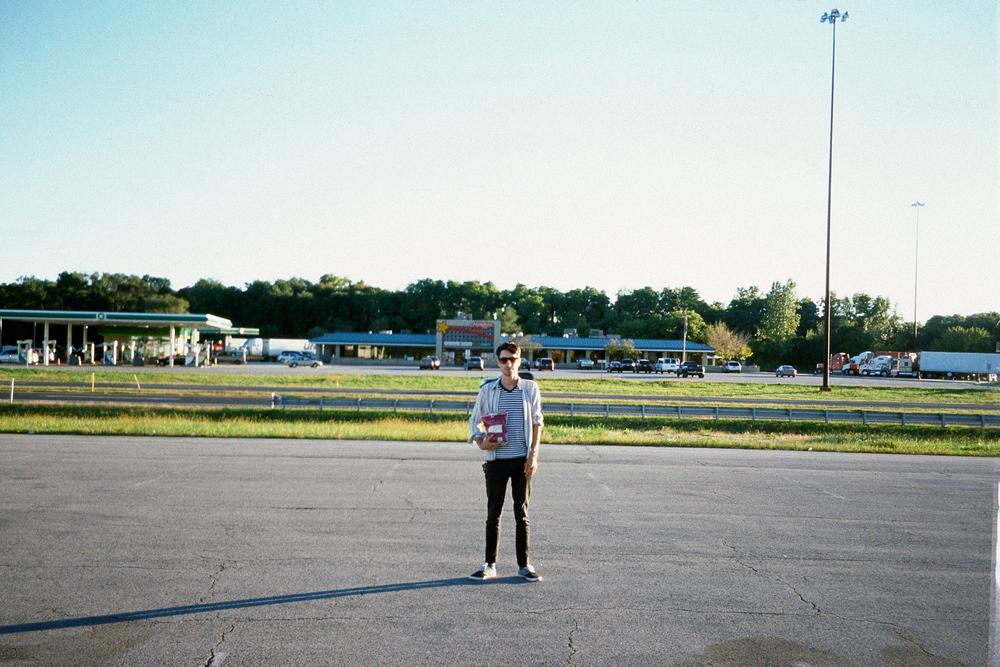 Grandma and I somewhere off I-90 in Indiana, 2012