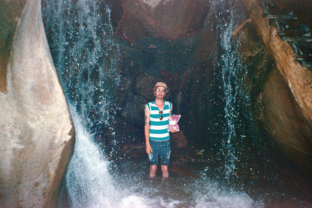 Grandma and I at Kanarraville Falls, UT, 2015