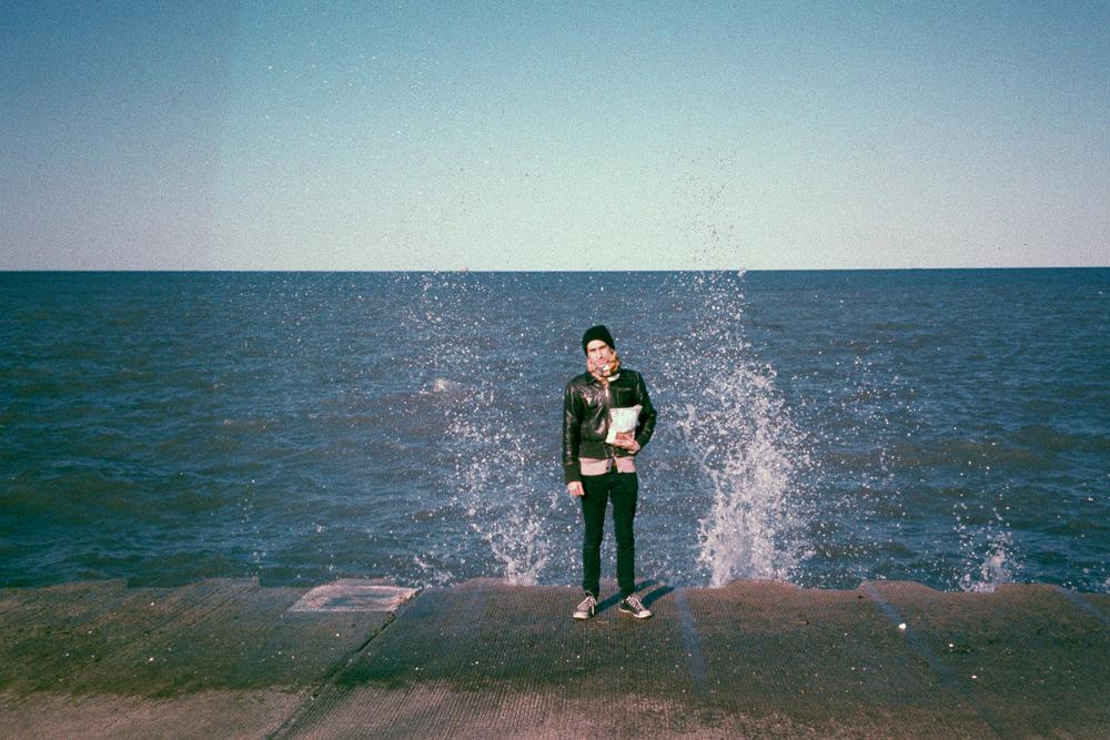 Grandma and I at Lake Michigan, 2013