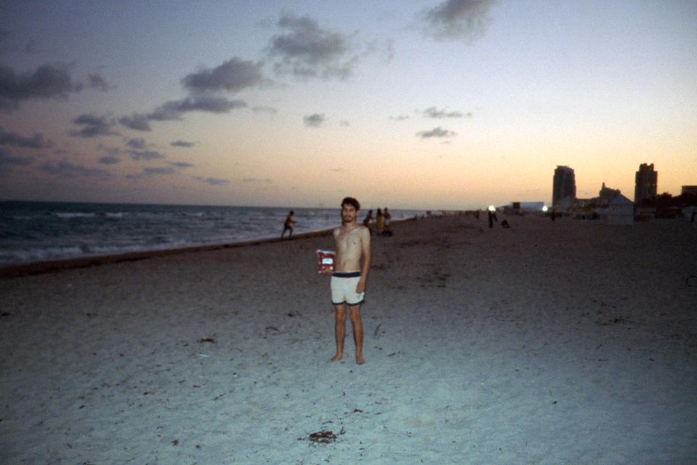 Grandma and I at the beach in Miami, 2013