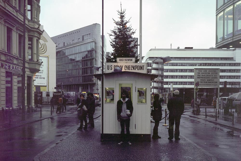 Grandma and Me at Check Point Charlie, Berlin, 2011