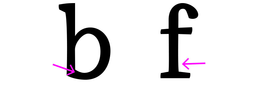 Figure 8. b: Stroke modulation influenced by my Greek Script. b: subtle curves to the straight lines.