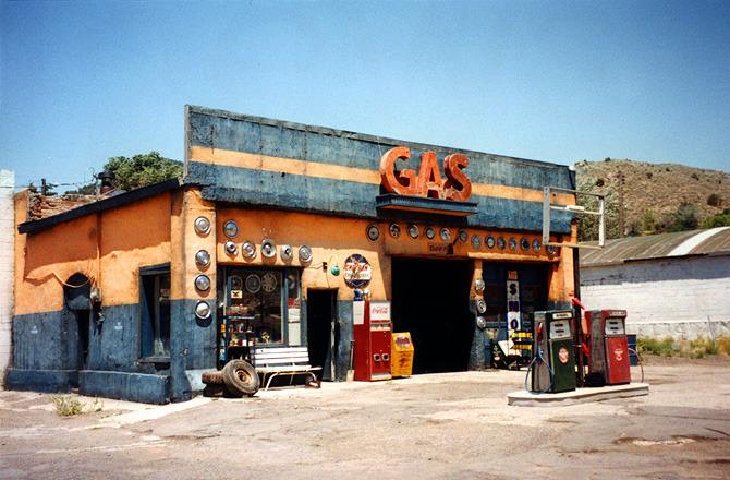 San Ramos' ramshackle gas station.
