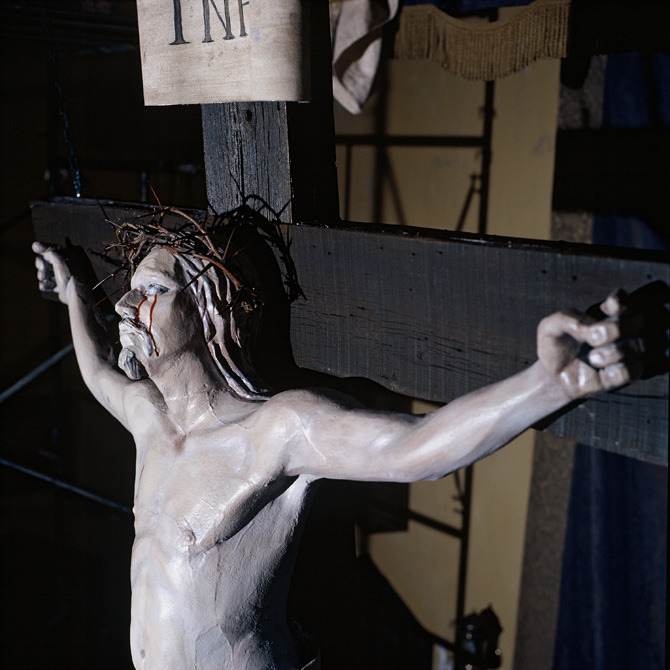 Detail of the crucifix.