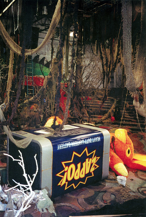 """My principal task as Art Director was the design and fabrication of """"Boogie-World"""", A nightmarish dream scape under a child's bed."""