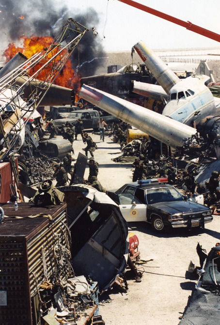 As an assistant art director to the late, great Edward McAvoy, my principle job was the creation of the huge airplane grave yard in the desert sequence of Con Air.