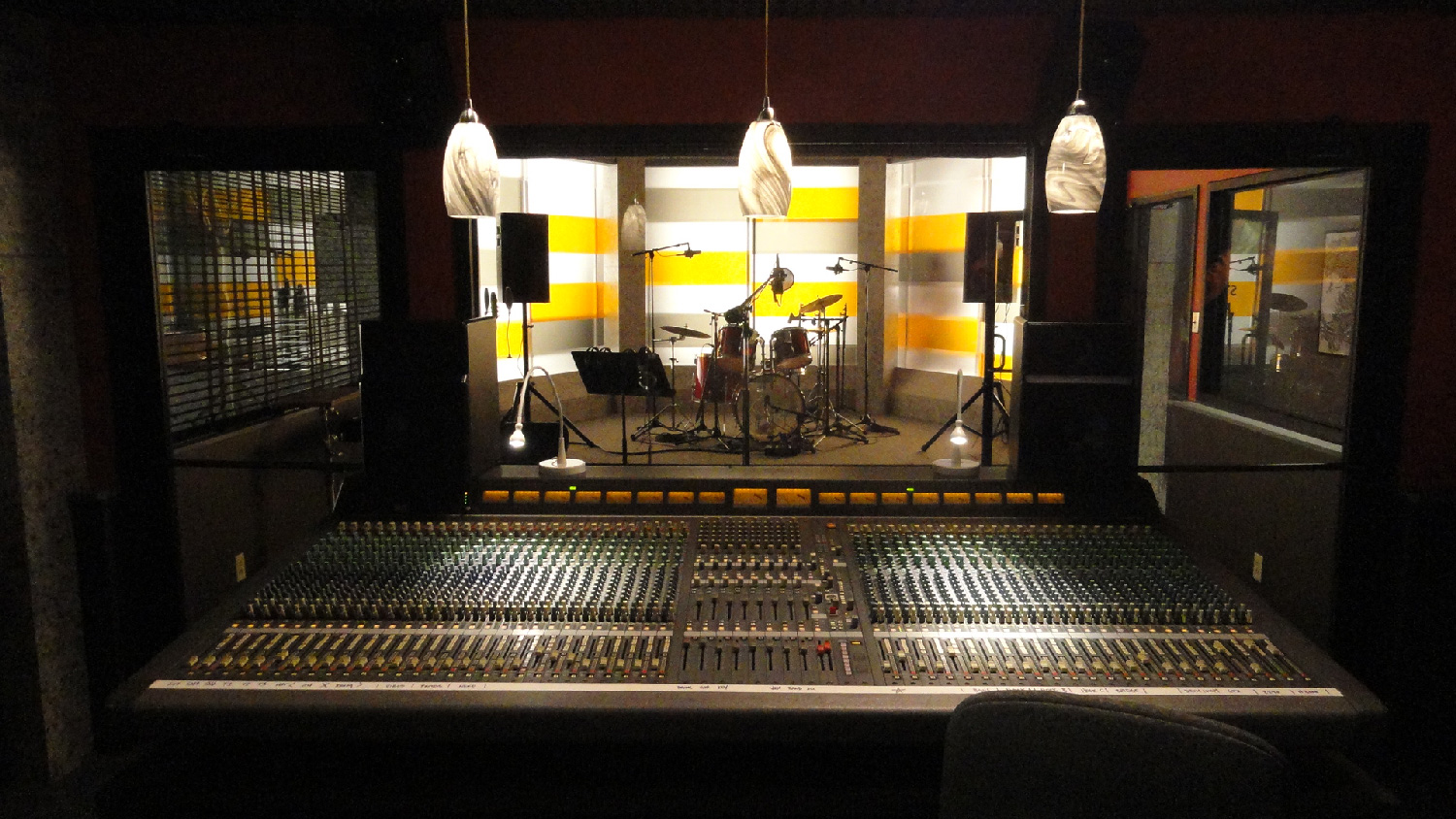 Another view of the Atlanta Records recording studio set.