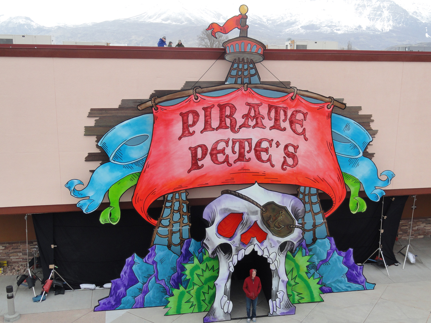 Entrance to a pirate-themed Vegas-style buffet.