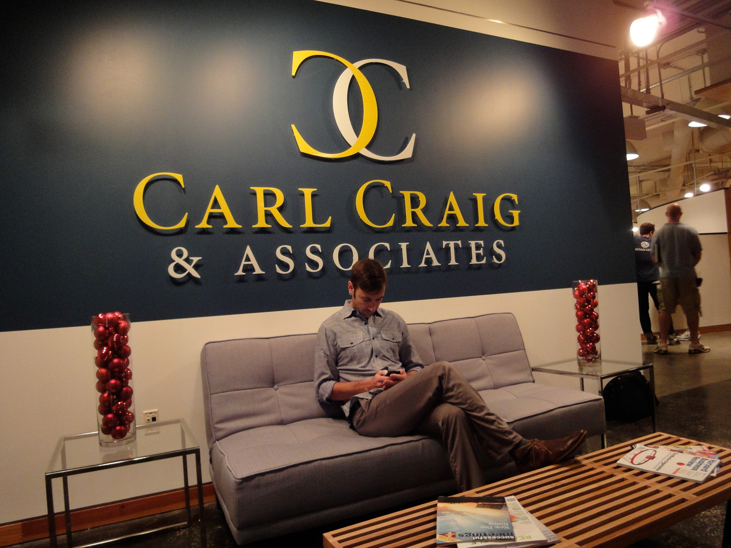 Entry and signage to Carl Craig and associates, a high end Hollywood PR firm.