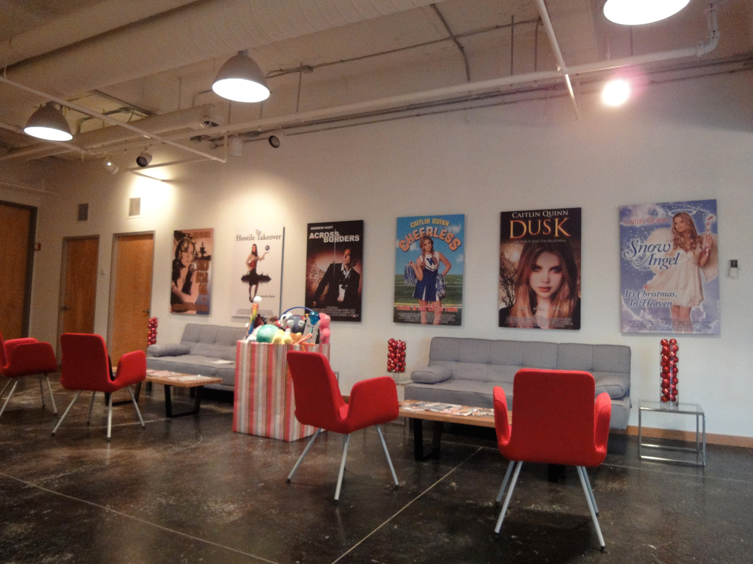 The reverse  of the PR lobby (to see the movie posters we shot and designed for the PR firm,  click here .)