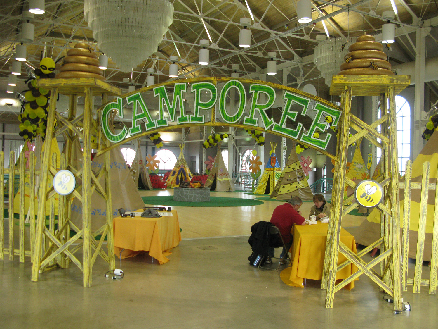 """Camporee"", yearly Bumble Bee scout event and final scenes of the movie. It was decided to make it an indoor event because of the severe winter conditions."